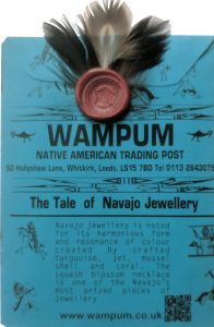 Wampum Native American Jewellery-traditional and appealing stylised feather watch tip